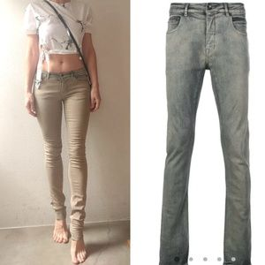 Rick Owens DRKSHDW diesel hue stovepipe jeans 27